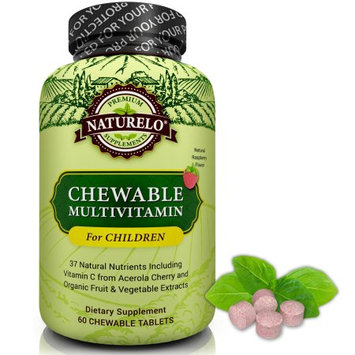 Naturelo Chewable Multivitamin for Children - Raspberry Flavor - 60 Tablets
