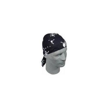 Zan Headgear Flydanna Headwrap White Skull/cross (Black, OSFM)