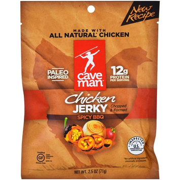 Caveman Foods, Jerky, Spicy BBQ Chicken, 2.5 oz (71 g) [Flavor : Spicy BBQ]