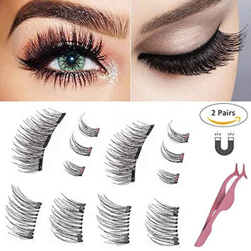 Magnetic Eyelashes 0.2mm Ultra Thin Magnet Lightweight & Easy to Wear Best 3D Reusable Eyelashes Extensions With Applicator