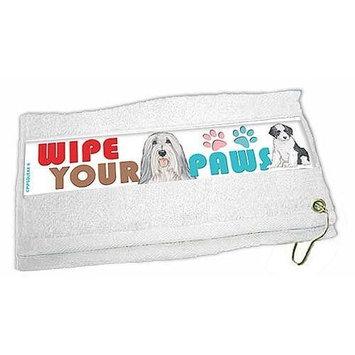 Pipsqueak Bearded Collie Paw Wipe Towel