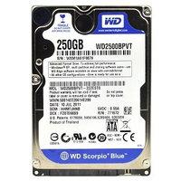 Western Digital Scorpio Blue 250GB Internal Hard Drive - OEM