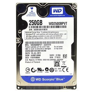 Western Digital Scorpio Blue 250GB Internal Hard Drive - OEM