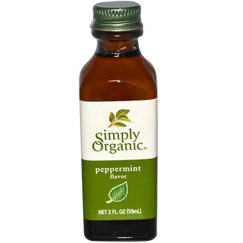 Simply Organic, Peppermint Flavor, 2 fl oz(Pack of 2)