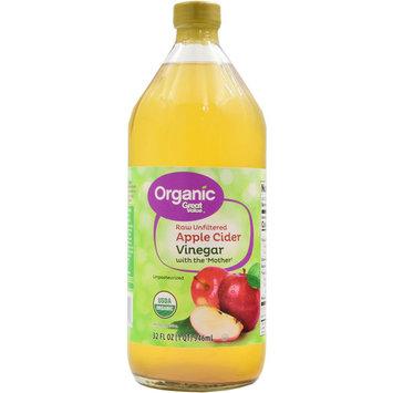 Great Value Organic Raw Unfiltered Apple Cider Vinegar, 32 fl oz
