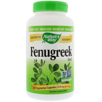 Nature's Way, Fenugreek Seed, 610 mg , 320 Vegetarian Capsules [Package Quantity : 320 Vegetable Capsules]
