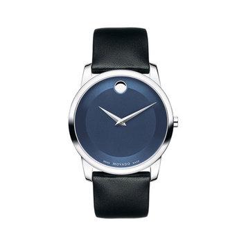 Movado Museum 606610 Blue / Black Leather Analog Quartz Men's Watch