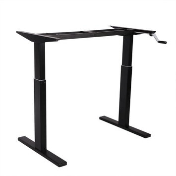Flexispot Crank Height Adjustable Standing Desk Finish: Black