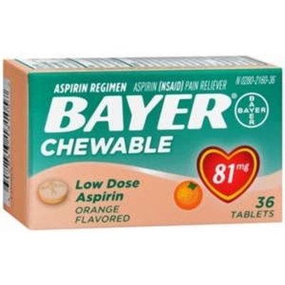 Bayer Aspirin Childrens 81Mg Chewable Tablets Orange