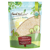 Organic Oat Bran by Food to Live (Non-GMO, Raw, High Fiber Hot Cereal, Milled from High Protein Oats, Vegan, Bulk, Product of the USA) — 1 Pound