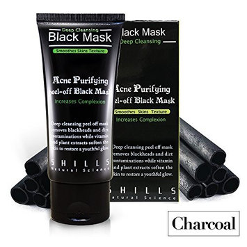 SHILLS Blackhead removing Peel-off Mask, Charcoal Facial Deep Cleanser