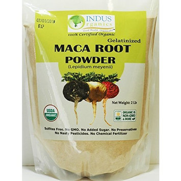 Indus Organics Maca Powder (Mixed), 4 Lb Bag, Gelatanized, Pre-Washed, Premium Quality, Non-gmo, Freshly Packed