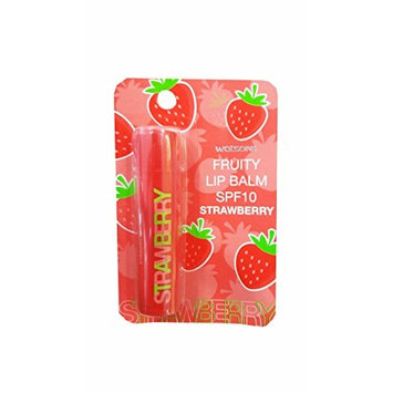 3 Packs of Watsons Fruity Lip Balm SPF10 Strawberry, Strawberry has an Enhanced moisturising and Nourishing Formula with a Sweet Strawberry Fragrance. (4.5g./ Pack).