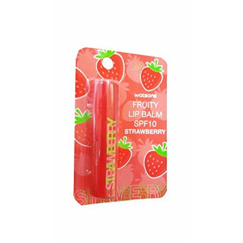 2 Packs of Watsons Fruity Lip Balm SPF10 Strawberry, Strawberry has an Enhanced moisturising and Nourishing Formula with a Sweet Strawberry Fragrance. (4.5g./ Pack).