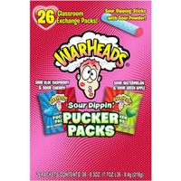Warheads Sour Dippers Pucker Packs Valentine's Day Variety Pack, 0.3 oz, 26 count