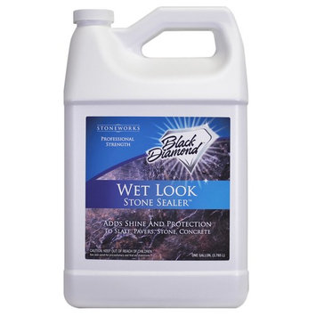 Wet Look Natural Stone Sealer. Black Diamond Stoneworks.1 Gallon