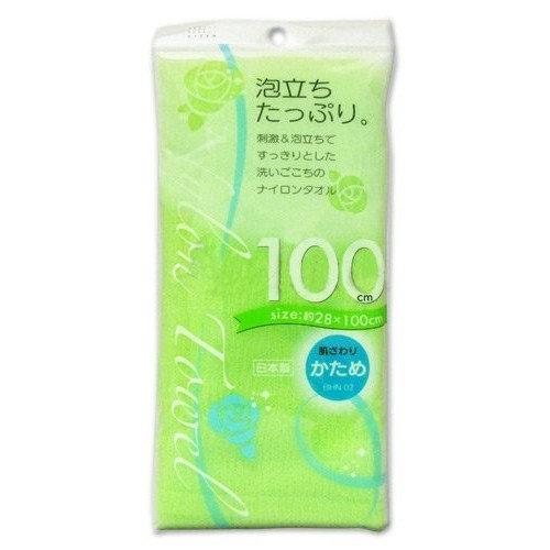 AISEN Nylon Body Towel, Hard Green, 100 cm