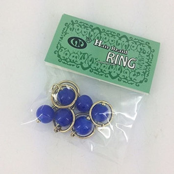 (PACK OF 4) HAIR RING COLLECTION - SOLID COLOR BEAD 6PCS (ASSORT COLOR) : Beauty