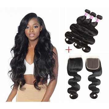 Brazilian Virgin Hair Body Wave Bundle Deals 100% Human Hair Bundles Virgin Brazilian Body Wave Hair Weave Bundles Natural Hair Color