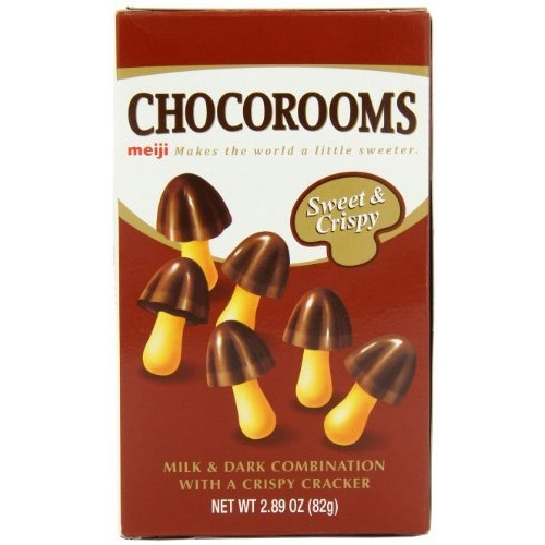 Meiji Chocorooms, 2.89-Ounce Boxes (Pack of 10)