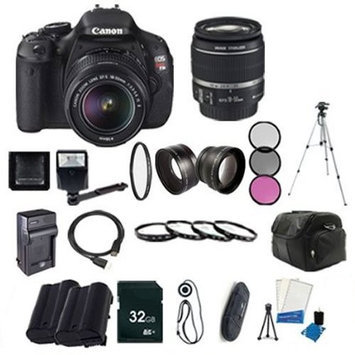 Bolton's Canon EOS Rebel T3i Digital SLR Camera with EF-S 18-55mm f/3.5-5.6 IS Lens + LP-E8 Replacement Li-on Battery + Rapid Tr