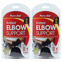 Pure-Aid Knitted Elbow Support (LG-XL) (Pack of 2)