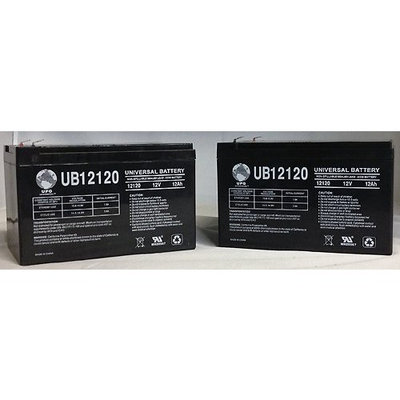 12V 12Ah Shoprider Jimmie UL8WPB UL8WPBS Scooter Battery - 2 Pack