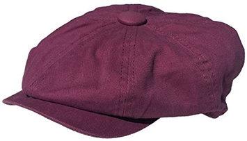 Headchange Broner 8/4 Apple Jack Cap Cotton Newsboy Hat (Burgundy, X-Large)