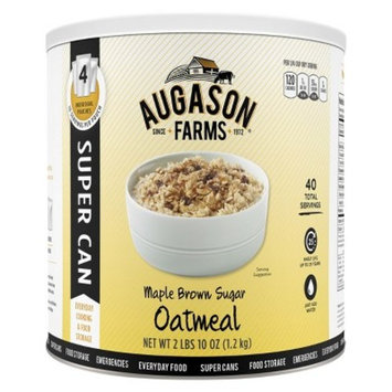 Augason Farms Emergency Food Maple Brown Sugar Oatmeal - 42oz
