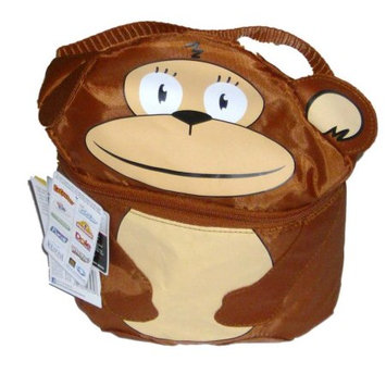California Innovations Artic Zone Jungle Monkey Soft Lunch Box Insulated Bag 2 Compartment Lunchbox