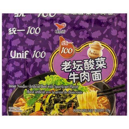 UNIF 100 Chinese Sauerkraut Beef Flavor Instant Noodles 119g