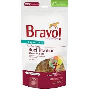 Bravo Bag-O-Chews Dry Roasted Beef Trachea Dog Treats