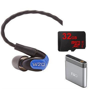 Westone W20 Dual Driver Noise Isolating Earphones In-Ear Monitors - 78502 w/ FiiO A1 Amp