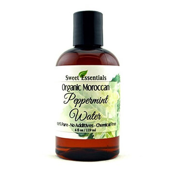 Organic Peppermint Water 4oz   Imported From France   Premium Face Toner   Chemical Free   Gentle   Calming   100% Natural   Perfect for Reviving, Hydrating and Rejuvenating Your Face and Neck