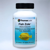 Thomas Labs Fish Zole 250mg Metronidazole x 60ct Tablets