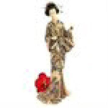 Japanese Faux Ivory Okimono Geisha: Holding Mirror