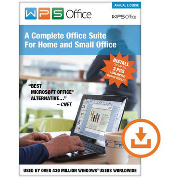 Kingsoft WPS Office: Annual Subscription (3 PCs/Unlimited Mobile Installs) (Digital Code)