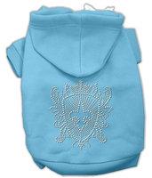 Mirage Pet Products 5432 LGBBL Rhinestone Fleur De Lis Shield Hoodies Baby Blue L 14