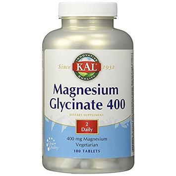 KAL - Magnesium Glycinate 400, 3Pack (180 tablets Each ) Zmbm2He