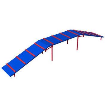 Ultra Play Blue and Red Dog Park Platformed Ramp PBARK-410P