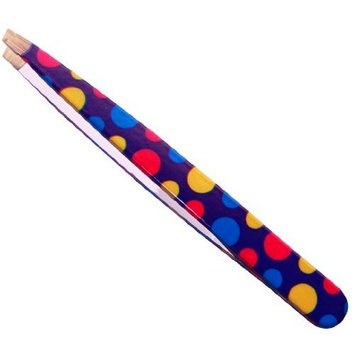 Stainless Steel Slant Tweezer, Polka Dots Print - Used By Professionals by MBW NW Brands