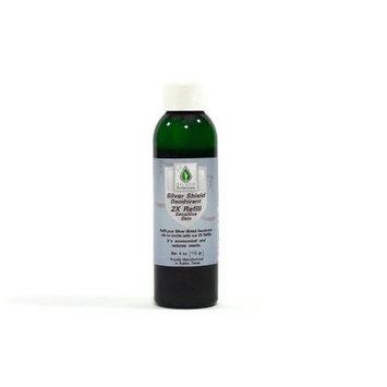 Silver Shield Deodorant - Sensitive Skin Formula - 2X Refill, All Natural Colloidal Silver Deodorant, 4 oz.