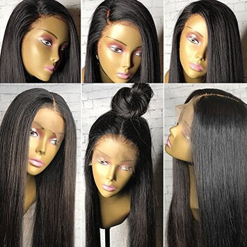 Thriving 150% Density Straight Full Lace Wigs for Black Women 100% Human Hair Wigs Glueless Lace Front Human Hair Wigs with Baby Hair(12inch with 150% density, lace front wigs)