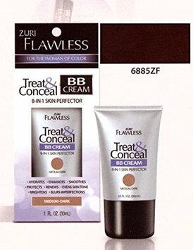 Zuri Flawless Treat & Conceal BB Cream 8-in-1 Skin Perfector - Very Dark