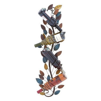Woodland Import 96906 Suave Metal Wall Wine Holder with Solid Construction