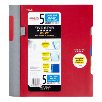 Five Star® Advance® Wirebound College Ruled Notebook - 5 Subject (06326) - Five Star Notebooks