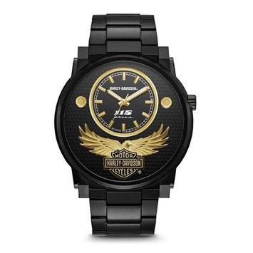 Harley-Davidson Men's 115th Anniversary Limited Edition Black Watch 78A119, Harley Davidson
