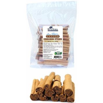 Viva Doria Ceylon Alba Cinnamon Sticks Sri Lanka 5 Inches (16 Oz) (Approx: 40-45 Sticks)
