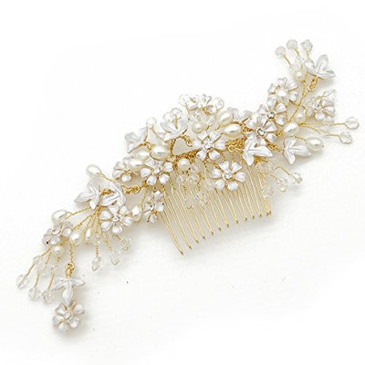 VANKOKO Bridal Side Hair Comb Headpiece Wedding Hair Accessories G