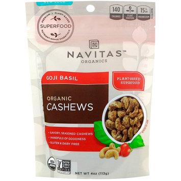 Navitas Organics, Organic Cashews, Goji Basil, 4 oz (113 g) [Flavor : Cashews, Goji Basil]